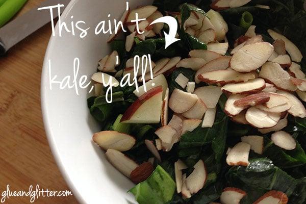 Raw Collard Greens Salad