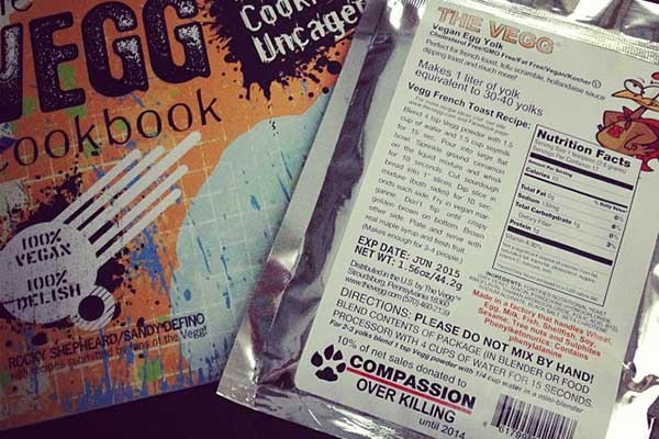 packet of Vegg and The Vegg Cookbook