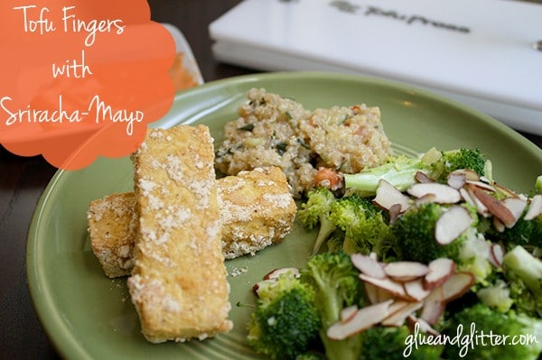 These baked tofu fingers make an easy-peasy (and delicious!) supper or finger food appetizer.