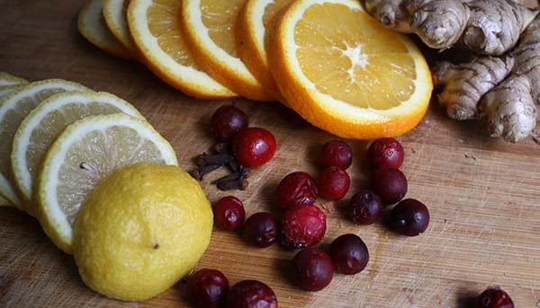Cranberry Mulled Wine Ingredients
