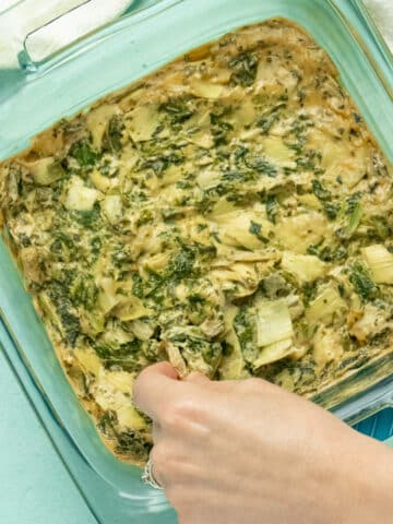 Vegan spinach artichoke dip with garlic cashew cream