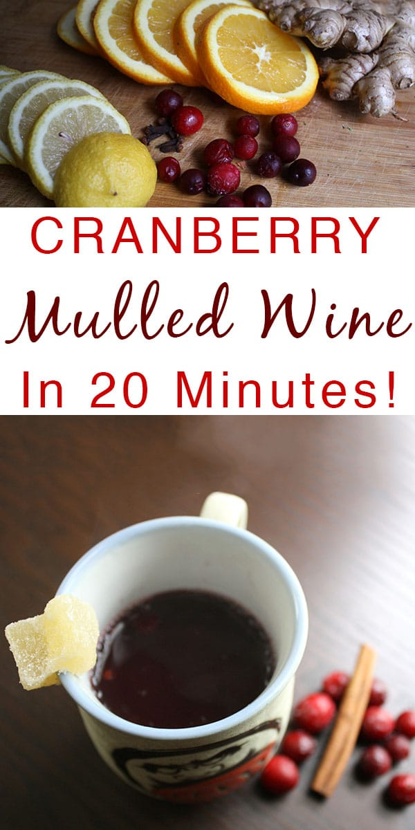 Don't you love how mulled wine just makes the whole house smell festive? Cranberry Mulled Wine is tart, sweet, spiced, and perfect for sipping on a cold evening.