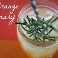 Sweet Orange Rosemary Shrub Recipe