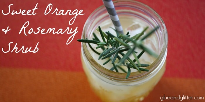This shrub recipe is simple, sweet, and tangy all at once and packed with sweet orange and deep rosemary flavors.