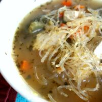 Vegetarian Chicken Noodle Soup