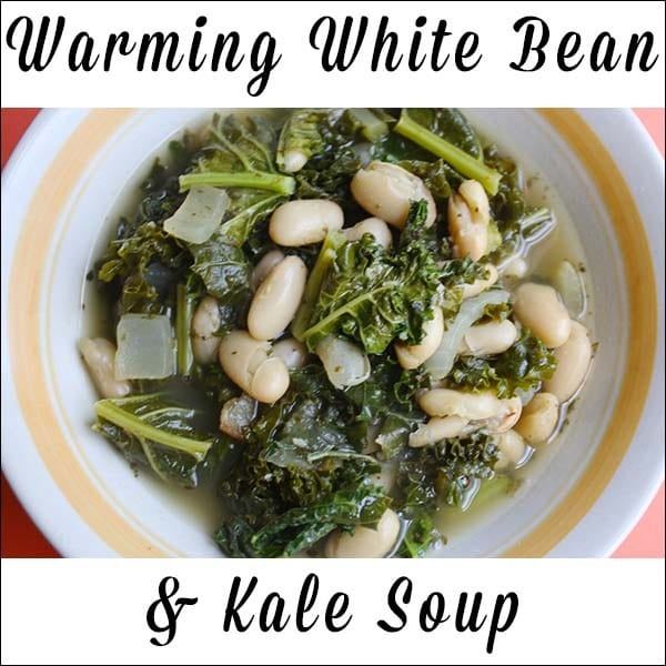 After beating the stomach bug last week, I wanted to make something warm and comforting for supper. White bean soup was just right!