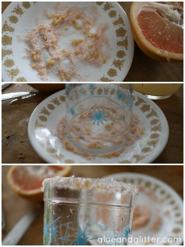 Grapefruit Salt for a Sparkling Grapefruit Margarita