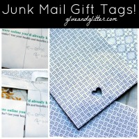 Make a Gift Tag from Junk Mail!