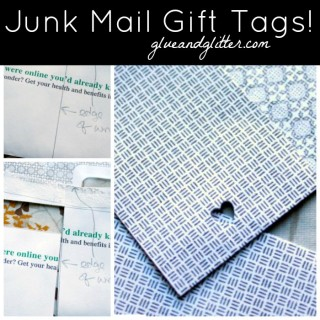 Make A Gift Tag from a Junk Mail Envelope