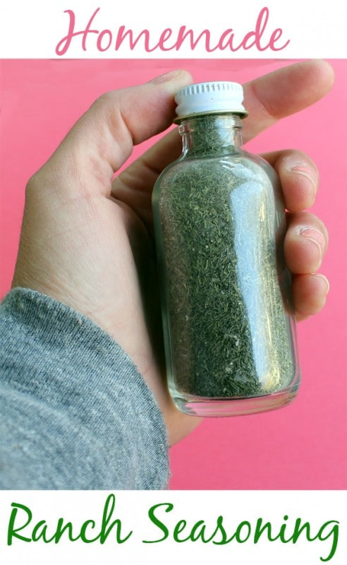 hand holding a bottle of homemade ranch seasoning