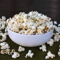 ranch popcorn in a bowl