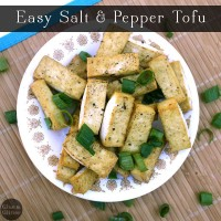 I love salt and pepper tofu, and I love it even more when I can cook up a healthy version with very little hands-on work!