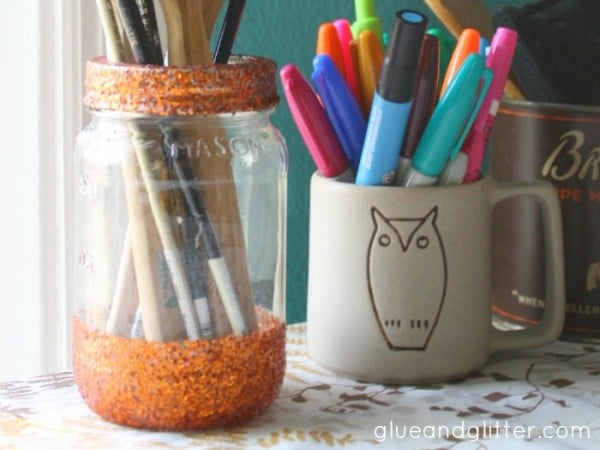 Glitter Mason Jars