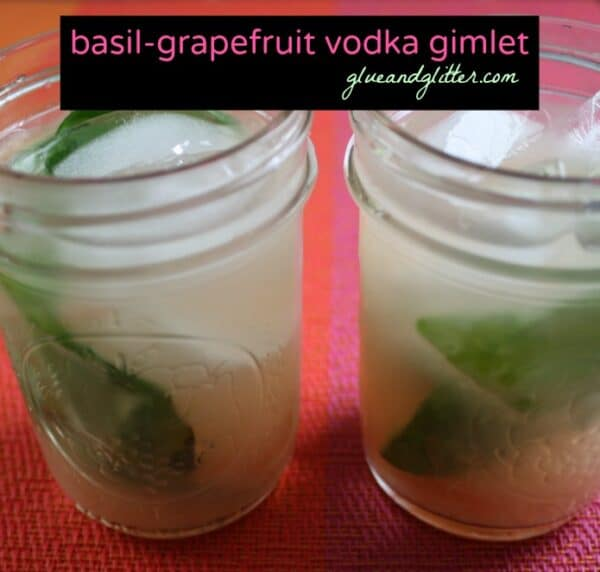 A traditional vodka gimlet uses lime juice to cut the booze. This version features grapefruit instead plus a dash of herbal goodness.