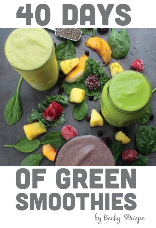 40 Days of Green Smoothies Cover