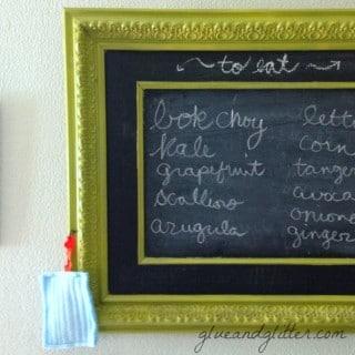 Make a Framed Chalkboard For Less Than $25