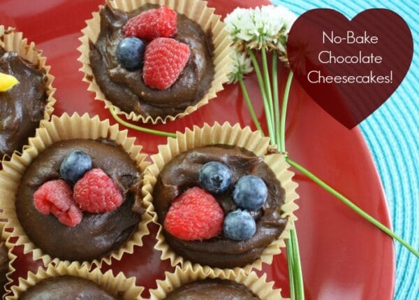 What's better than a chocolate cheesecake? A miniature vegan chocolate cheesecake, so you don't have to share!