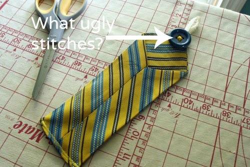 Necktie Scissor Holder: button