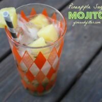 This pineapple mojito stars pineapple sage instead of mint, and it's freaking delicious.