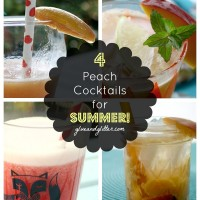 How about summer cocktail recipes starring my very favorite summer fruit: peaches!