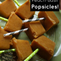 I made these mini peach popsicles in my ice cube tray, but you can use this same recipe in a proper popsicle mold.