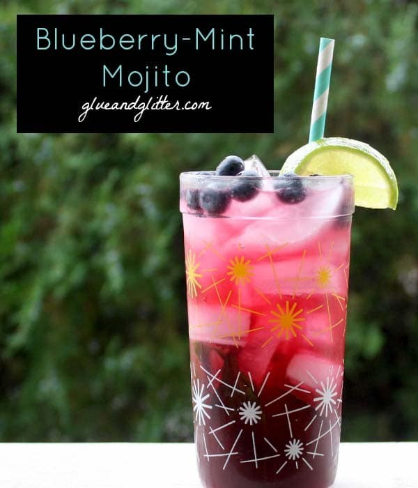 This blueberry mojito recipe doesn't call for extra sugar like a traditional mojito.