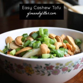 Tofu Stir Fry with Cashews and Baby Bok Choy