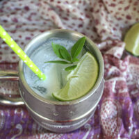 Coconut-Ginger Moscow mule is a creamy twist on this gingery cocktail.
