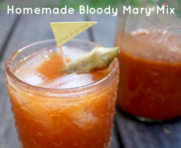 This Bloody Mary recipe uses a gingery homemade Bloody Mary mix. Use the mix to make the cocktail or drink it on its own, with or without pickled okra!