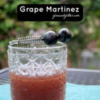 A grape Martinez is a lovely sweet-and-sour cocktail that's perfect in summer and fall, when grapes are in season.