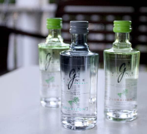 miniature bottles of Gvine Gin