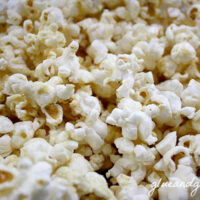 close-up of popcorn covered in nutritional yeast