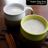 This dairy free egg nog only takes 15 minutes to make. You'll never miss the eggs and cream.
