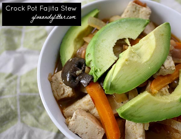 Fajita crock pot stew is warm, cozy, and super easy to prepare. You barely need to be in the kitchen to make it.