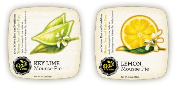 Key Lime and Lemon Raw Mousse Pies from Raw Noble