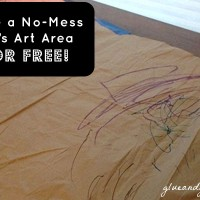 How to Make a No Mess Art Area for Kids (for FREE!)