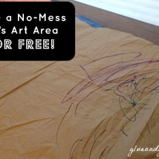 The No-Mess Kid's Art Area that I Made for Free!