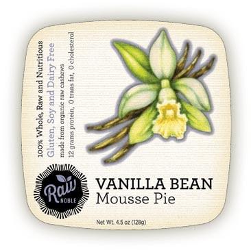 Vanilla Bean Raw Mousse Pie