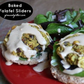 Baked Falafel Sliders with Oats and Pecans