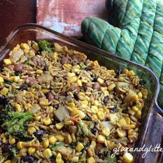 Leftover Beans and Rice Casserole