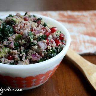 Oil Free Kale and Quinoa Salad