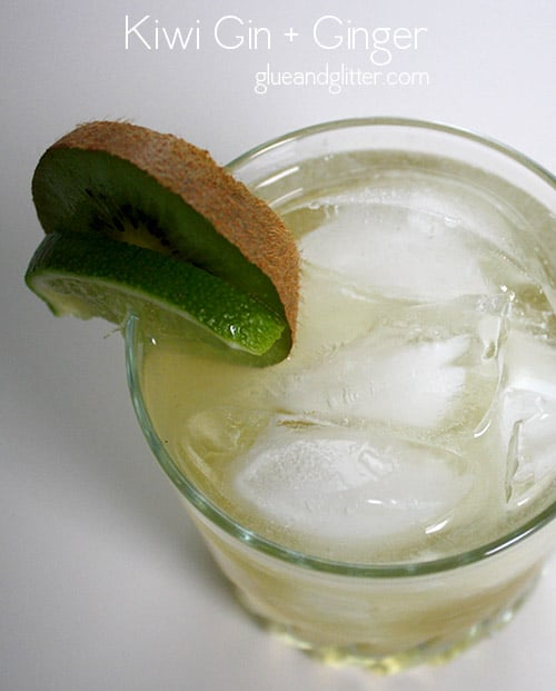 A gin and ginger cocktail is nothing new, but making this cocktail with kiwi-infused gin elevates this simple drink into something really special.