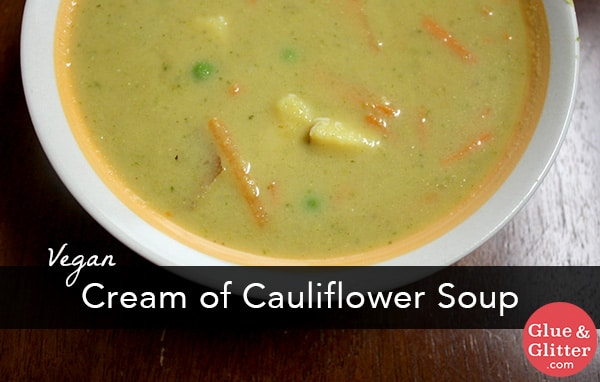 Rich, creamy, curried cream of cauliflower soup is a quick and easy meal with some bread on the side for dipping.
