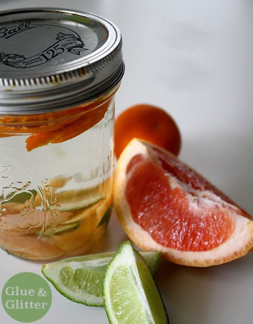 Homemade citrus gin makes pretty much any gin drink more special. Mix it up fancy-like, or serve it over ice with a splash of soda.