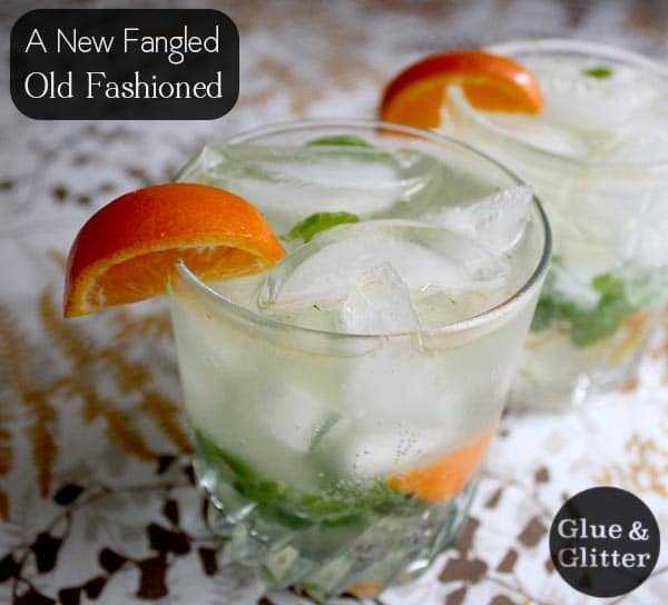This cocktail is sort of a modern old fashioned, but the bones are the same. It's sparkling, citrusy, and super refreshing!