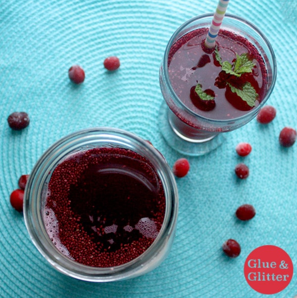 Chia seed bubble tea is easy to make, and this cranberry version can even be refreshingly sugar free, if you want it to be.