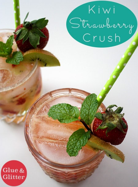 Kiwi-Strawberry Crush - Tart kiwi and sweet, spring strawberries make this kiwi-strawberry cocktail super delicious with no added sugars needed.