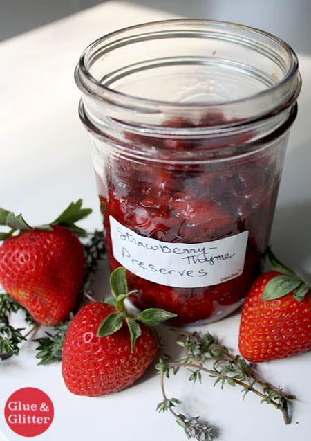 This simple strawberry jam recipe comes together quickly on the stove top. It lasts 2-3 weeks in the fridge.