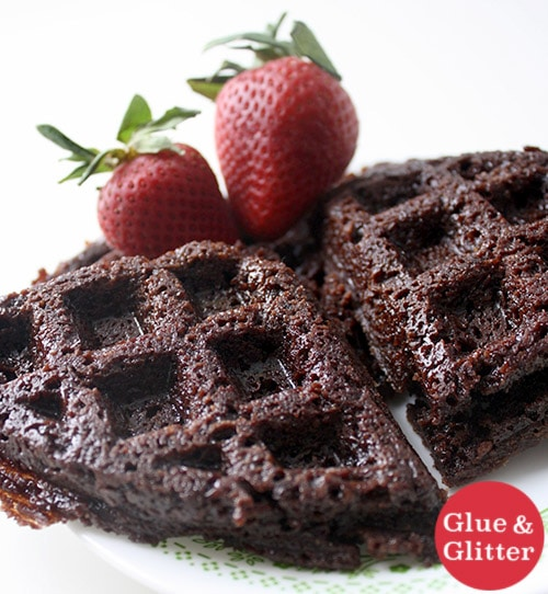 Brownie Mix Waffle Iron Brownies (omg!)