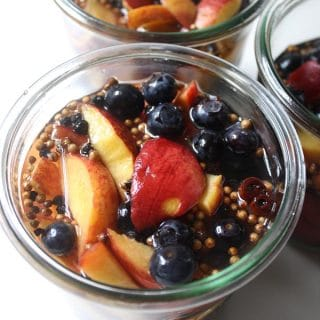 Pickled Peaches and Blueberries for Blueberry and Peach Day!